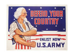Defend Your Country, Enlist Now Us Army Wwii Poster' Giclee Print ...