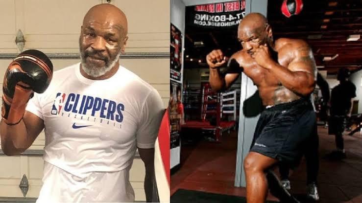 Mike Tyson training hard