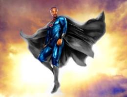 On-This-Earth-Calvin-Ellis-Superman-Micahael-B-Jordan-Man-of-Steel-Sun-Clouds