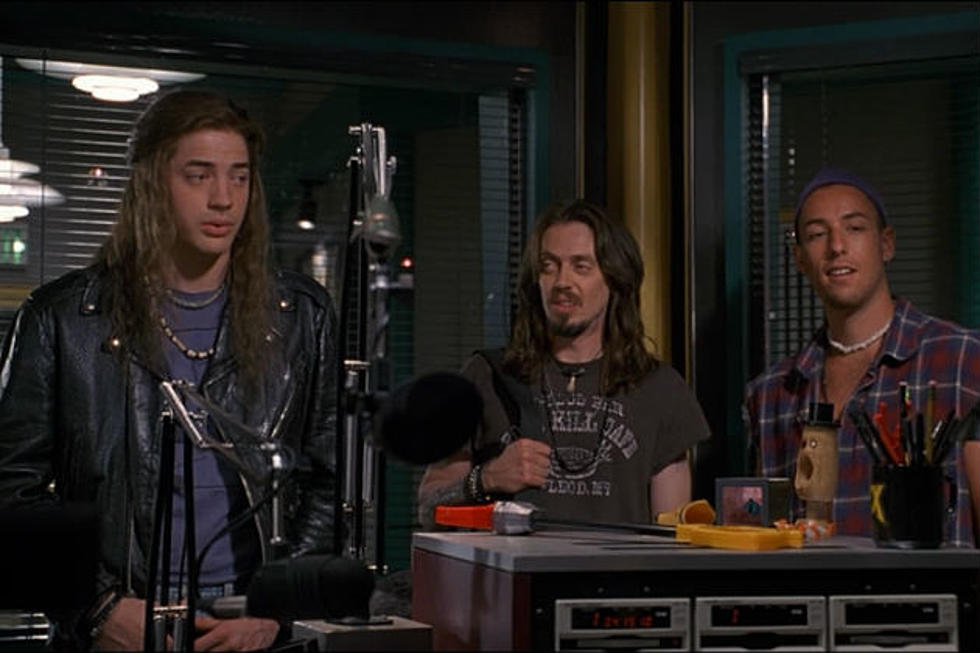(Adam Sandler, right, pictured with Brendan Frasier and Steve Buscemi in 1994's Airheads)