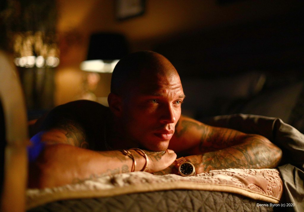 Jeremy Meeks on set of True To The Game 2